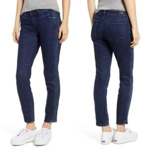 AG Prima Ankle Pintucked Cigarette Jeans Indigo 28